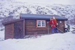 Skridulaupbu fotografert vinteren 1996 - Foto: Ukjent