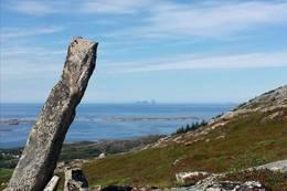 På Lauklihompen med Træna i horisonten - Foto: Monica S. Kristiansen