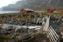 Det er god bru over Gråfollelva like ved Nilsebu - Foto: Ukjent