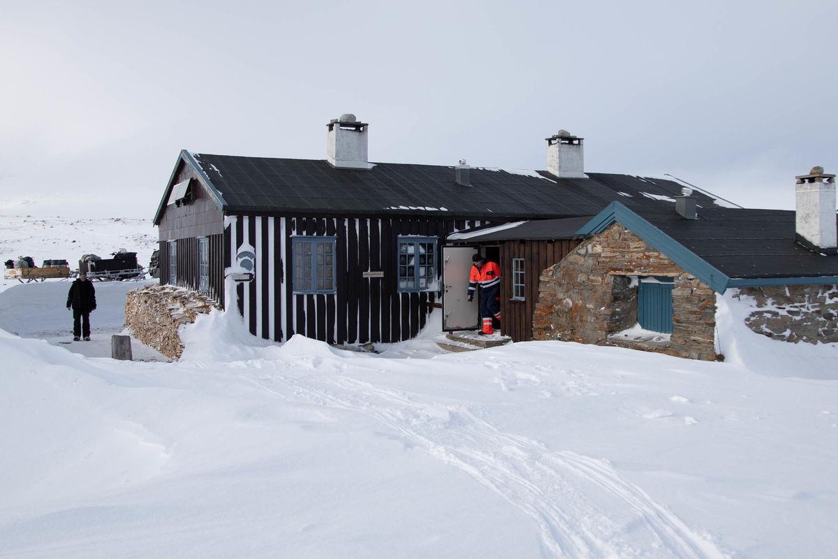 Flotte vinterforhold når tilsynet er inn med forsyninger.