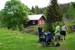 Du kan trille barnevogn inn til Øvresaga - Foto: DNT Oslo og Omegn