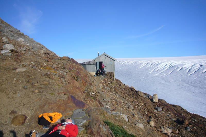 Godt med pause etter 1100 meter stigning