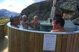 Badestampen på Stavali Turisthytte - Foto: Torill Opedal Hauge