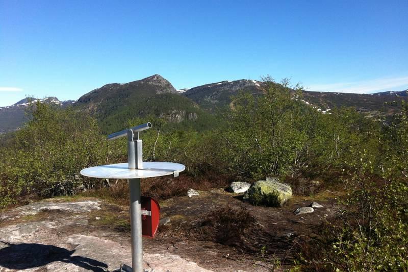 Fin utsikt fra utsiktspunktet på Otrosåsen