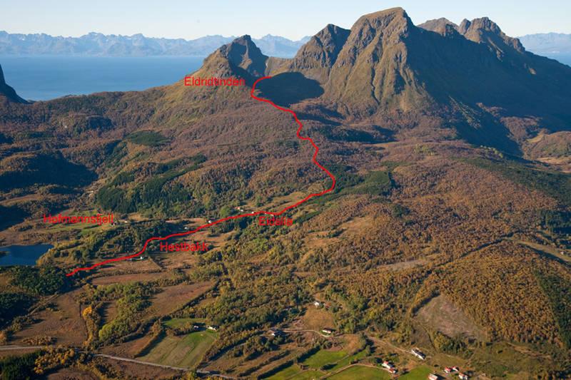 Flyfoto av ruta