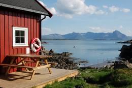 Her kan du nyte utsikten ut over Vesterålsfjorden! - Foto: Kristin Green Nicolaysen