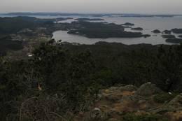 Utsikt fra Lyshornet mot Lysøen og havet. -  Foto: Lars Pesch