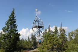 Tårnet på Hovlandsfjellet, også kalt Hovlandsvarden, 675 m.o.h. -  Foto: Hilde Roland