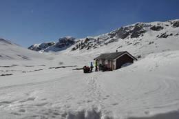 Sein vinter ved Yksendalsbu - Foto: Hallgrim Rogn