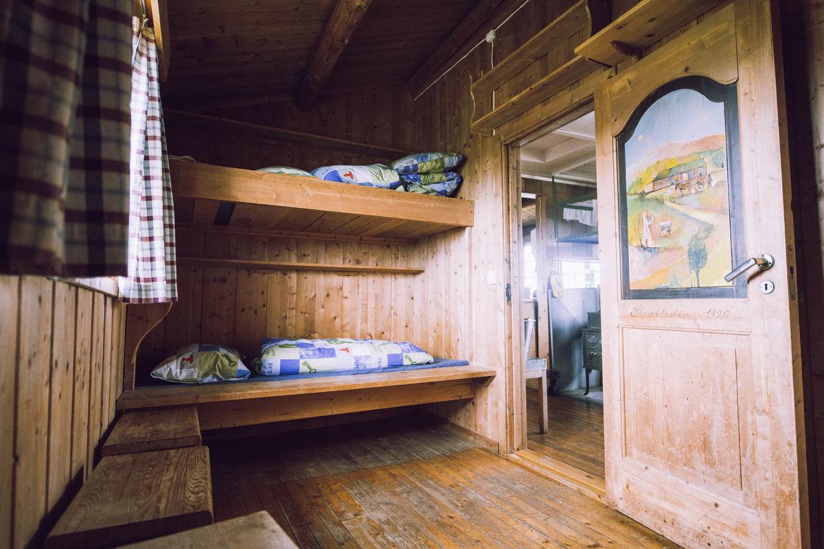 Soverom på Ramsjøhytta,