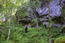 Litt ulent noen metre ovenfor fossen - Foto: Kjell Fredriksen