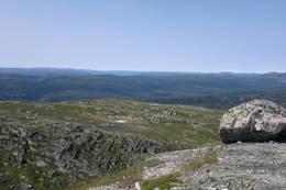 Utsikt over blånene mot vest - Foto: Britt Helene Fossøy
