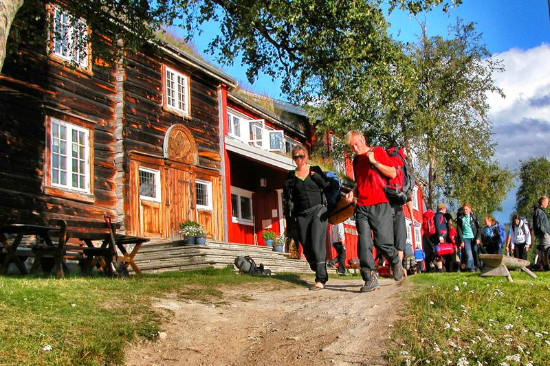 Gjevilvasshytta er ei av de mest populære turishyttene i Midt-Norge