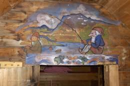 Veggmaleri på gamlestølen. - Foto: Anne Lise Borum