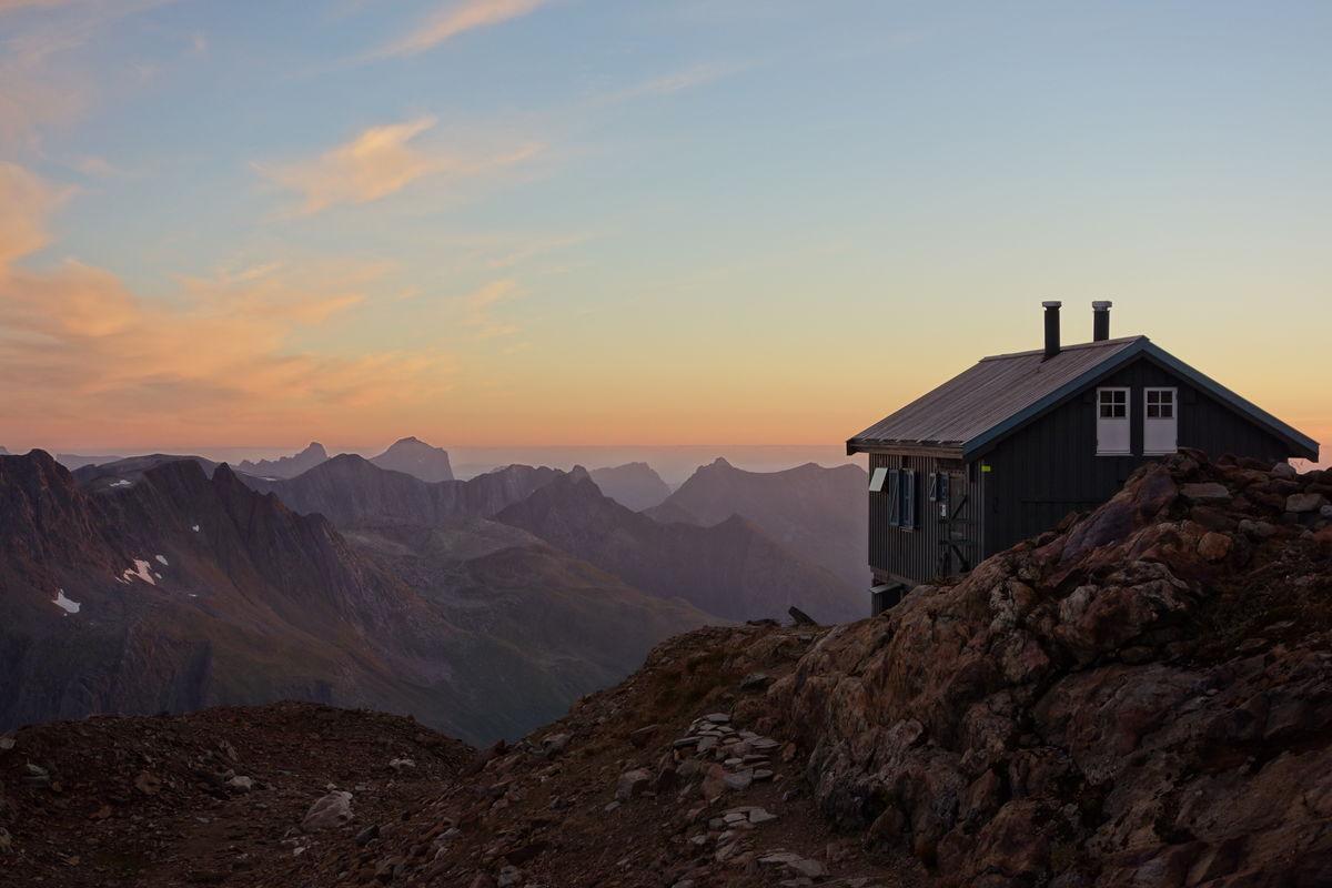 Klassisk utsikt fra Tåkeheimen