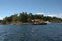 Roing utenfor Borøya -  Foto: Oslofjordens Friluftsråd