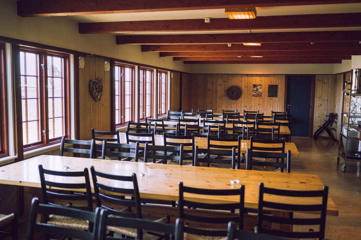 Spisesalen på Sandhaug