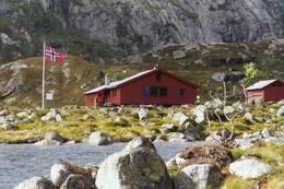 Nilsebu ligger ved utløpet av Gråfollelva - Foto: Stavanger Turistforening