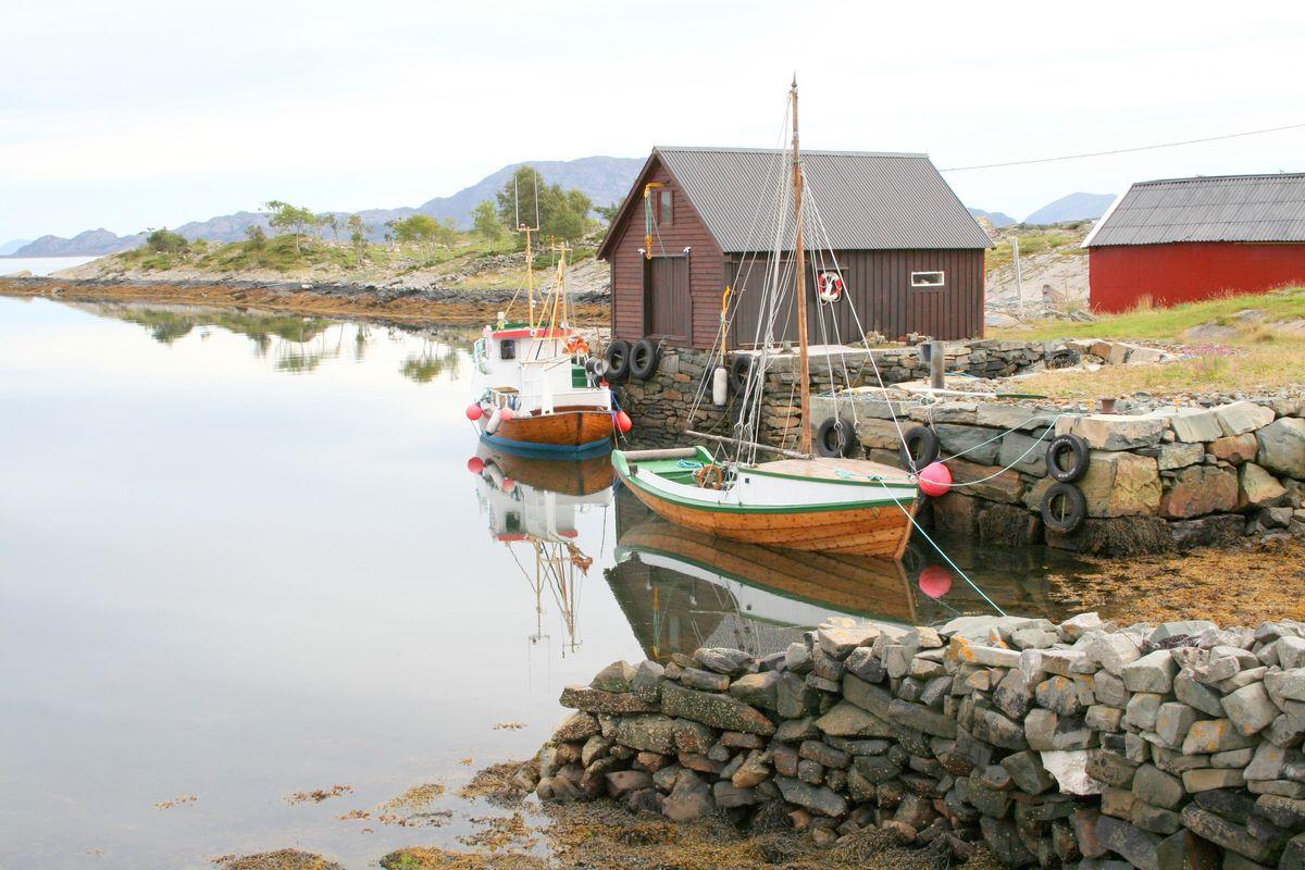 Fiskarheim ved Halshamarvik.