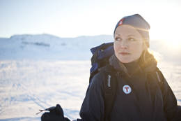 Ingvild Lundberg Bakke på Finse, påsken 2013. -  Foto: Sindre Thoresen Lønnes
