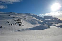 Utsikt fra hytten. - Foto: Sølve Sondbø