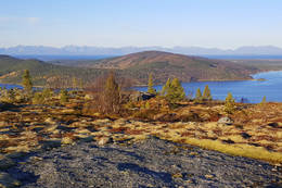 Her kan vi skimte Vassbotn, Hamlot og Tranøy - Foto: Kjell Fredriksen