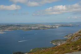 En kan ikke klage på utsikten fra Lundane nedenfor Dalsnuten - Foto: Kjell Helle-Olsen