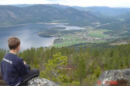 Frå toppen av Geitnetten -  Foto: Gunhild Momrak