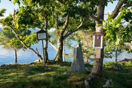 Postkassen ved gravrøysa - Foto: Simen Soltvedt