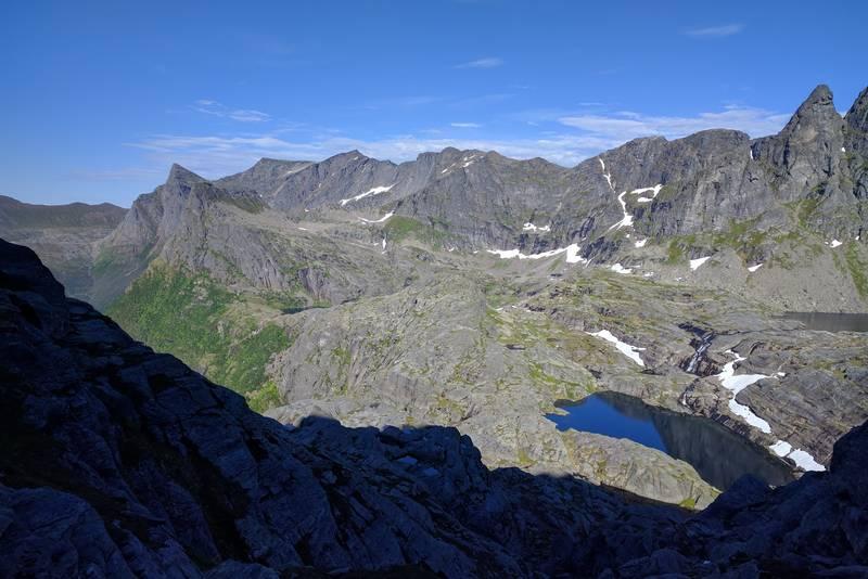 Foto fra steinura, på vei mot toppen