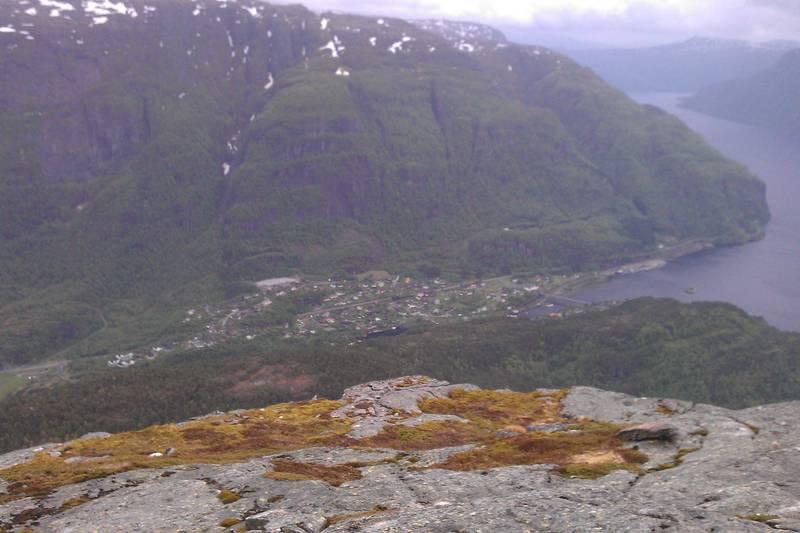 Stanghelle sett fra Storafjellet