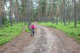 På sykkeltur i Furumoløypene.  -  Foto: Hilde Roland
