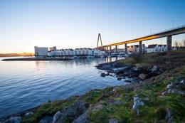 Bybrua sett fra Sølyst.  -  Foto: John Petter Nordbø