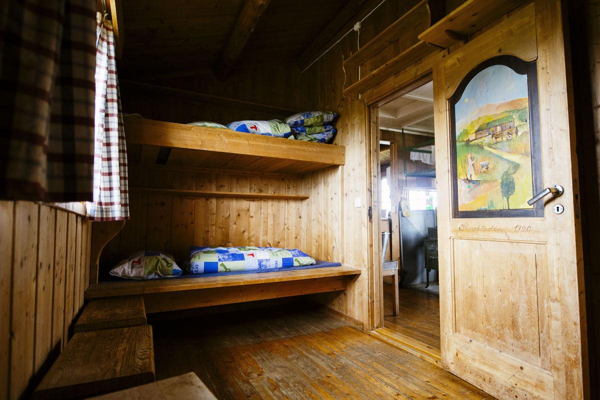 Interiør i hytta.