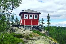 Brannvaktstårnet på Kjerkeberget -  Foto: Martin Kvist
