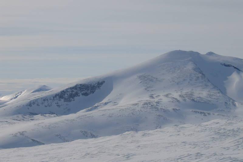 Snøhetta sett fra nord. Reinheim