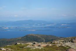 Her ser vi Tautra, Frosta og Forbordfjellet. - Foto: Bjørn Ove Finseth