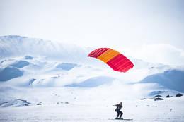 Kiting ved Finsehytta - Foto: Marius Dalseg Sætre