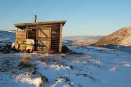 Vinterdag ved Vannfjordhytta<br /> - Foto: A Kristiansen