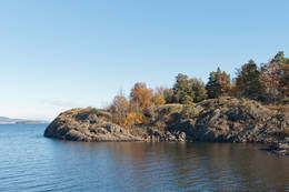 Mellomøya ved starten i Løvøysund - Foto: Ukjent