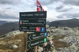 Skilting på Skafonnfjellet.  - Foto: Anne Cecilie Kapstad