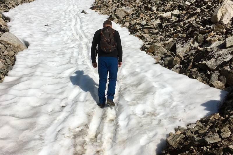 26.aug. Det må påreknast litt snø i gjølet sjølv på seinsommeren.