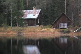Ubetjent hytte. Grue Finnskog. Finnskogen Turistforening -  Foto: Åsmund Skasdammen