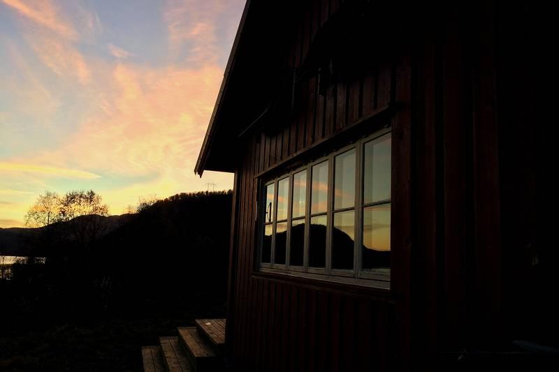 Fin kveld på hytta.
