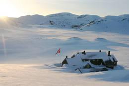 Vinter ved Geiterygghytta -  Foto: DNT Oslo og Omegn