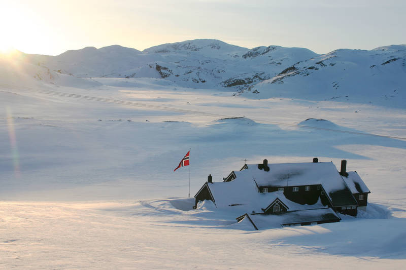 Vinter ved Geiterygghytta