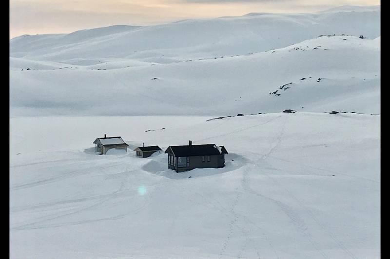 Vinter ved hyttene