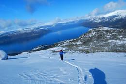Første del av oppstigningen -  Foto: Kjetil Birkeland Moe