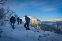 På vintertur langs kulturstigen