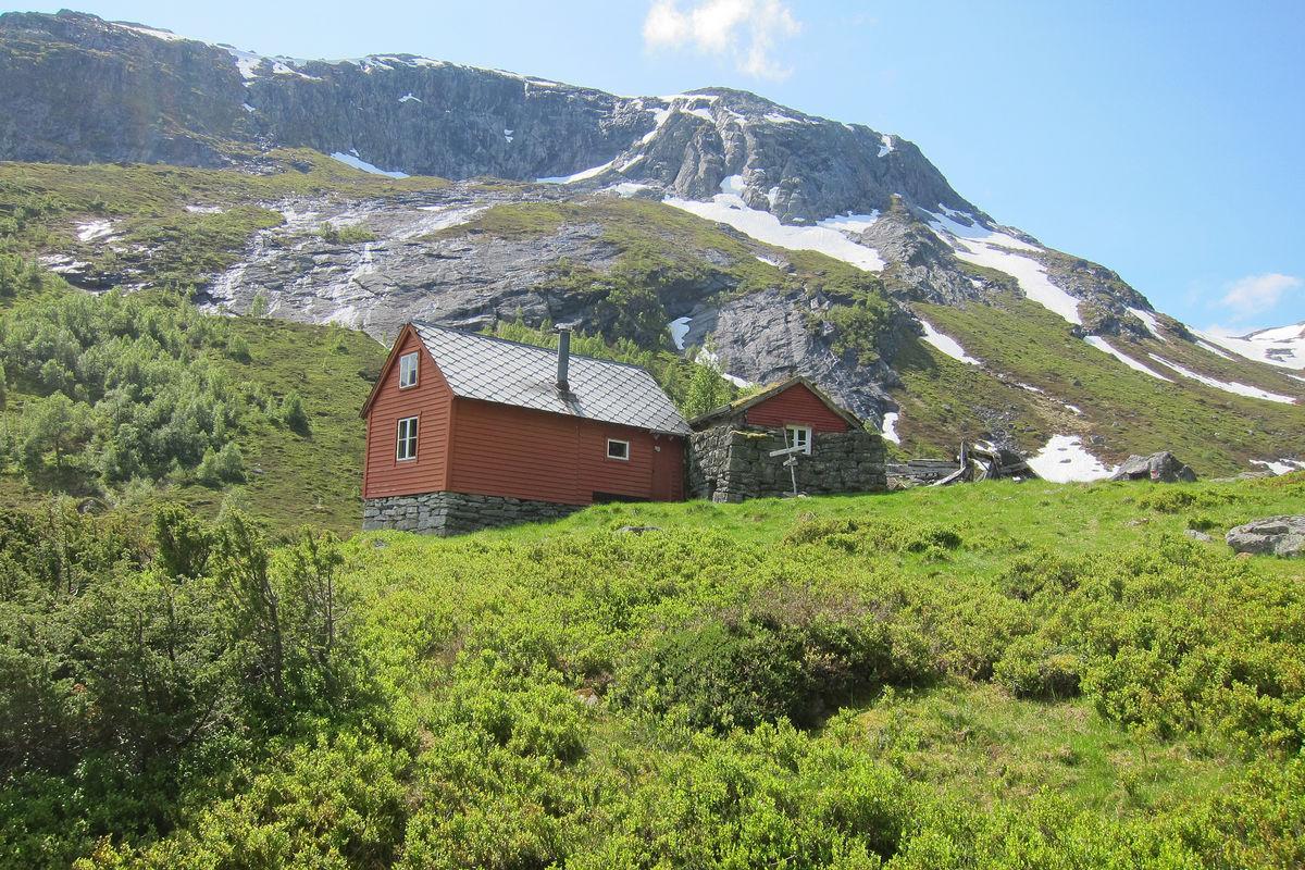 Brydalseter ovenfor Ortnevik i Sogn